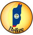 button Belize vector image vector image