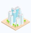 city street urban buildings landscapes 3d vector image