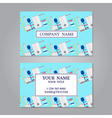 Creative horizontal business card name card or vis vector image vector image