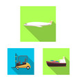design of goods and cargo logo collection vector image vector image