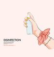 disingection hand sanitiser fashion woman hnd vector image