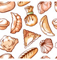 dumpling seamless pattern for restaurant art vector image vector image