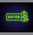 enter neon sign design template exit enter vector image