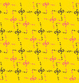 fashion seamless pattern on yellow background can vector image