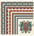 floral vintage frame design set All components are vector image vector image