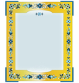 frame with flowers on border vector image