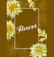 frame with fluffy yellow dahlias vector image vector image
