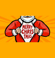 funny santa claus christmas greeting card vector image
