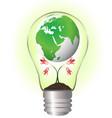 globe over a flower inside the bulb ecology vector image