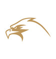 gold eagle logo design vector image