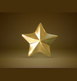 golden star realistic 3d vector image
