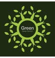 Green tree round bio icon Eco organic logo vector image