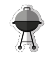 grill bbq isolated icon vector image