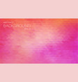 horizontal rose color banner with triangle vector image vector image
