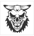 Horned skull - isolated on white vector image vector image