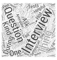 Hot Tips For Your Internship Interview Word Cloud vector image vector image