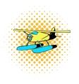 Hydroplane icon comics style vector image