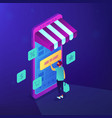 isometric mobile shopping vector image vector image
