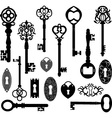 Keys Silhouette vector image vector image