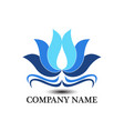lotus business logo vector image vector image