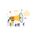 loudspeaker talking to the crowd big megaphone vector image