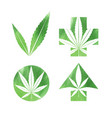 marijuana watercolor signs vector image