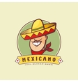 Mexican in Traditional Sombrero Abstract vector image vector image
