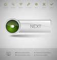 Modern plastic button vector image vector image