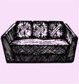 modern sofa vector image