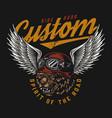 motorcycle vintage colorful logo vector image vector image
