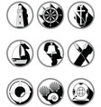 Nautical elements I icons in knotted circle in vector image vector image