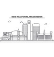new hampshire manchester architecture line vector image