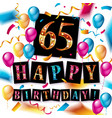 number 65 gold celebration vector image