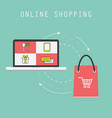 online shopping business concept vector image