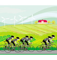 peloton cycling cyclists vector image vector image