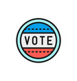 presidential election sticker vote label flat vector image