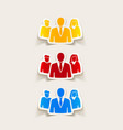 realistic design element business people vector image vector image