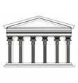Roman Greek Pantheon temple vector image vector image
