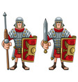 roman soldier on white vector image vector image