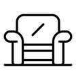 room armchair icon outline style vector image vector image