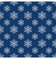 seamless background for christmas with snowflakes vector image vector image