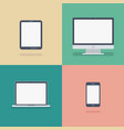 set devices flat icons vector image