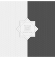 Set of geometric minimalistic thin lined seamless vector image vector image