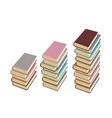 Set pile of books on a white background vector image vector image