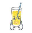 silent lemonade mascot cartoon style vector image vector image