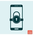 Smartphone lock icon vector image