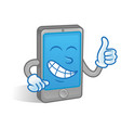 smartphone show thumb up vector image