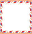 square pattern cartoon vector image