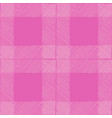 tartan seamless pattern pink white checkered vector image