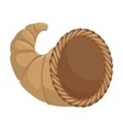 thanksgiving basket isolated icon vector image